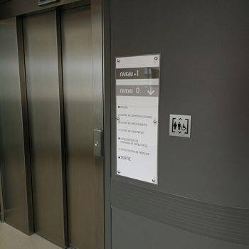 plaque synoptique ascenseur